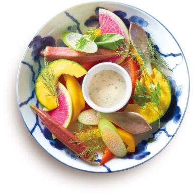 彩り生野菜ディップ