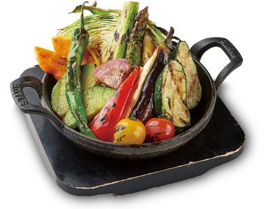 旬の焼き野菜盛り合せ¥780