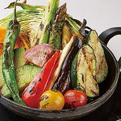 旬の焼き野菜盛り合せ